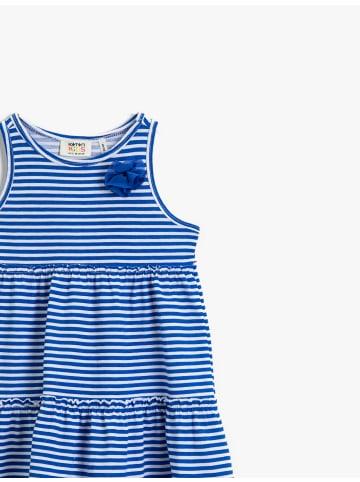 KOTON Mädchen Kleid mit Applikationen in blau