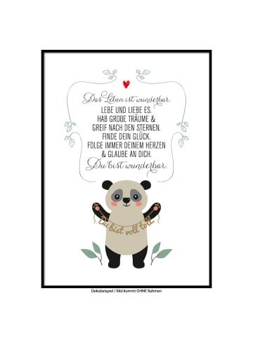 "SMART ART Kunstdrucke Kunstdruck / Poster ""Panda"" / A4 oder A3"