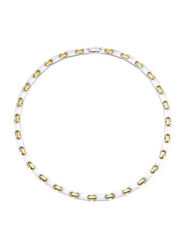 Magnetic Balance Halskette, Edelstahl in Silberfarben