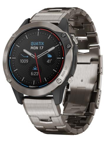 Garmin Quatix 6 Titan Marine GPS Smartwatch Schwarz / Silber
