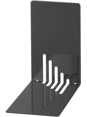 WEDO Buchstützen Metall 14 x 8,5 x 14 cm schwarz, 2 Stück