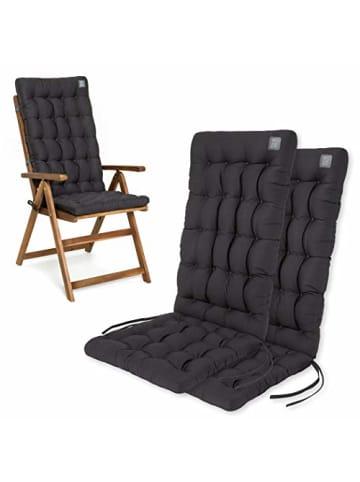 """Have a Seat 2er-Set Polsterauflage """"Hochlehner"""" in grau"""