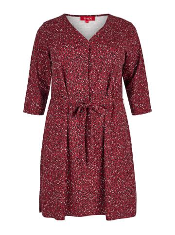 THEA Jerseykleid in rot
