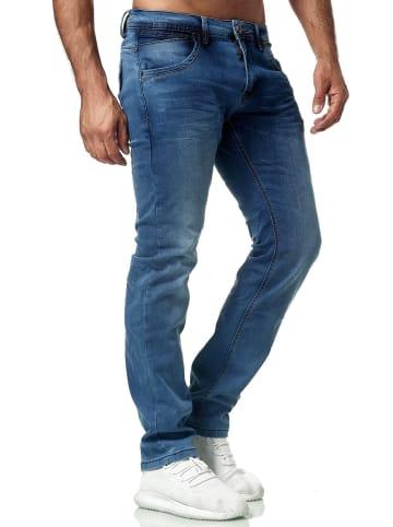 WANGUE Denim Jeans Hose Look in Blau