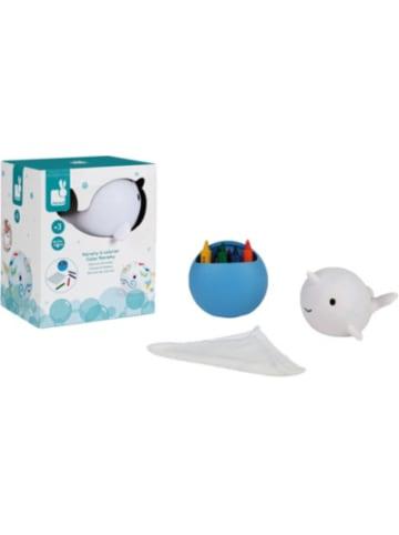 JANOD Badespielzeug Baby-Wal zum Anmalen, abwaschbar