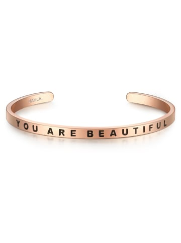 Nahla Jewels Armband YOU ARE BEAUTIFUL Edelstahl in Roségold in roségold