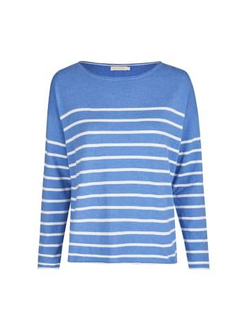 Eve in Paradise Pullover Fiona in Mittelblau Weiß gestreift