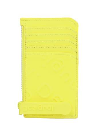 Desigual Colorama Kreditkartenetui 13 cm in amarillo fluor
