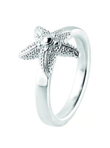 """Heartbreaker Ring """"Seestern Sealife LDSL13"""" in silber"""