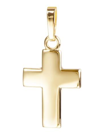 JEVELION Anhänger Kreuz 585 Gold Kreuz in gelbgold