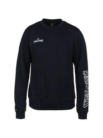 Spalding Sweatshirt Team II in dunkelblau / weiß