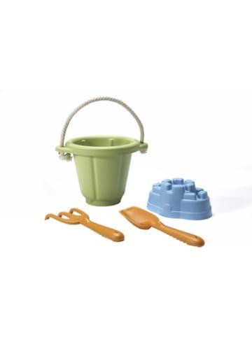 Green Toys Sandspielzeug 4 Teile mit grünem Eimer
