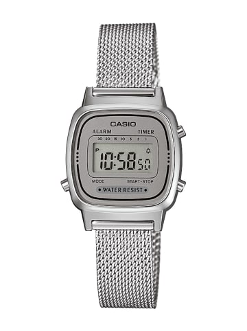 Casio Retro Digital Damenuhr Silber