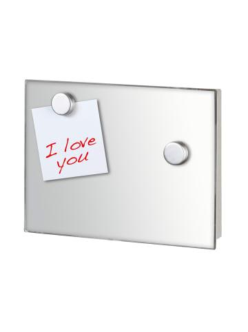 Wenko Schlüsselkasten Spiegel 20 x 15 cm, magnetisch in Silber matt