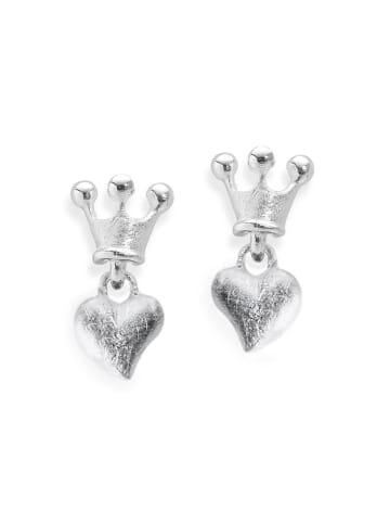 """Heartbreaker Ohrstecker """"Crown of my Heart 16 mm LDLP22"""" in silber"""