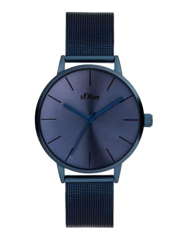 S.Oliver Time Armbanduhr in blau