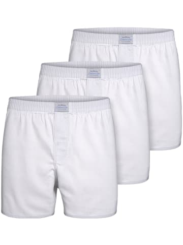 Lakeford & Sons Web Boxershorts 3-Pack 'Uni' in weiß