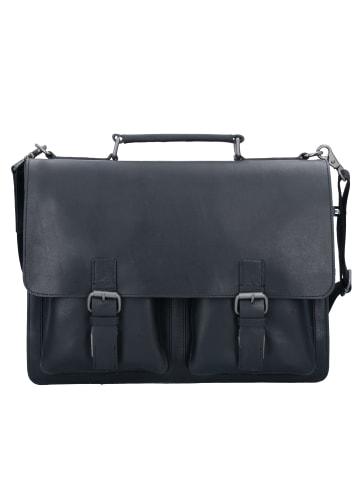 Leonhard Heyden Dakota Aktentasche Leder 40 cm Laptopfach in schwarz
