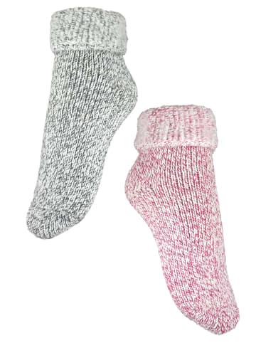 Rogo Socken in Pink/Grau