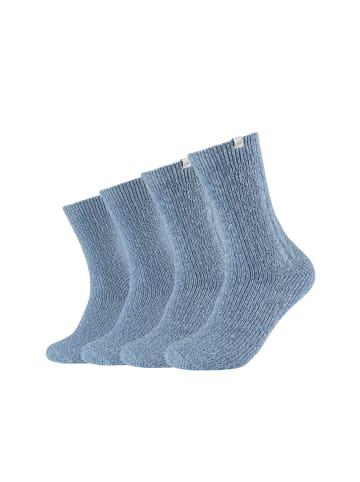 Skechers Kuschel-Socken 4er Pack in stone mouliné