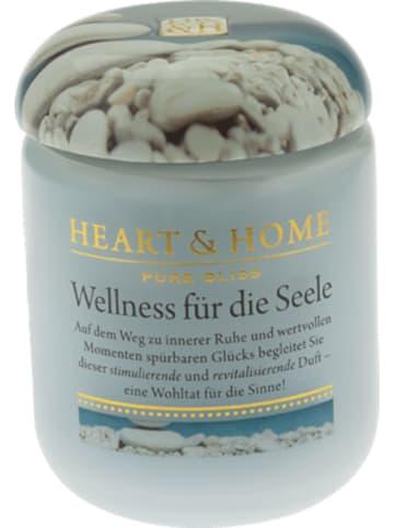 """HEART & HOME Kleine Duftkerze """"Wellness für die Seele"""", 115 g"""