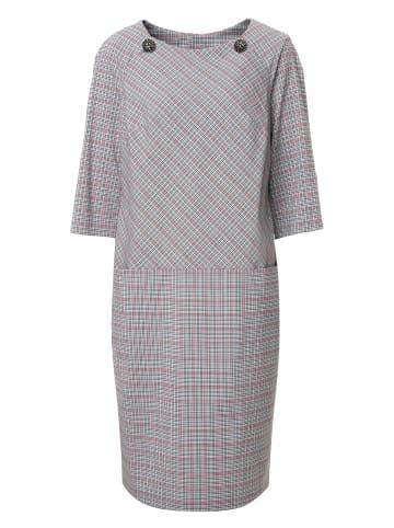MaDam-T Etuikleid Kleid Ferule in grau/ pink