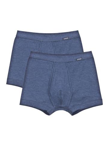 Ammann Pant Unterhose kurz mit Eingriff 2er Pack Jeans in Blau