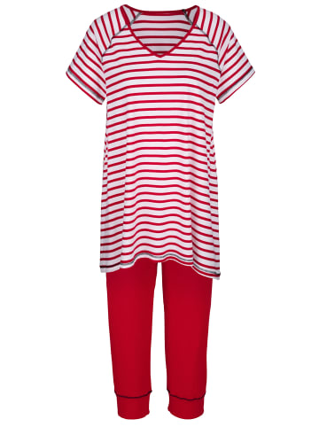 Simone Schlafanzug in Rot,Weiß