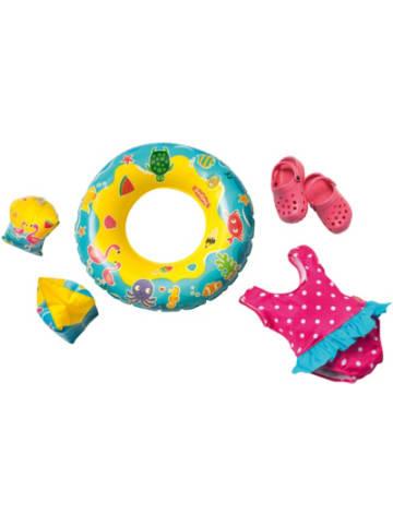 Heless Badeanzug, Clogs, Schwimmring und -flügel