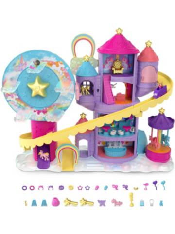 Mattel Polly Pocket Pollyville Regenbogen-Einhornspaß Freizeitpark