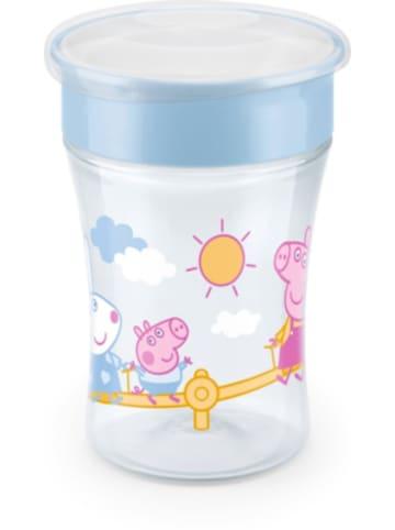 NUK Peppa Pig Magic Cup 230ml, 360°-Trinkrand, abdichtende Silikonsche