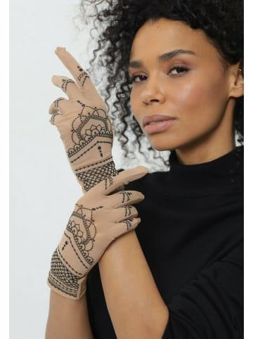 BRIKOLY Handschuhe mit Mandala in hautfarben