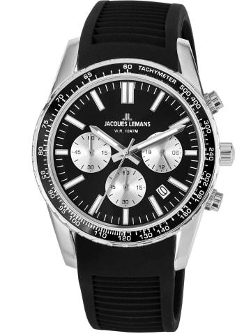 Jacques Lemans Armbanduhr Chronograph Liverpool Schwarz Ø 39 mm