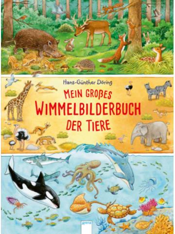 Arena Verlag Mein großes Wimmelbilderbuch der Tiere