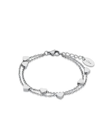 S. Oliver Jewel Armkette Edelstahl in Silber