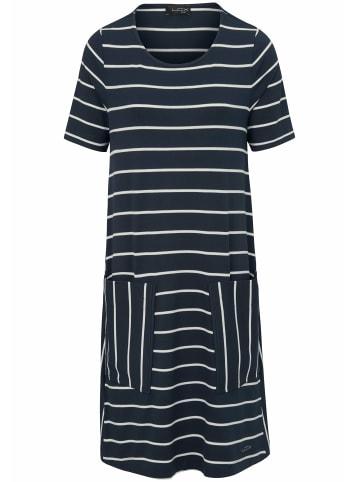 LOOXENT Kleid Jersey-Kleid mit 1/2-Arm in marine/weiß