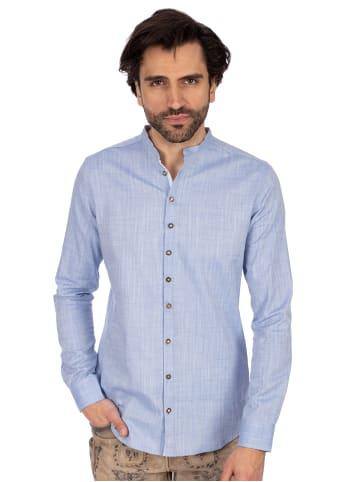 OS-Trachten Stehkragenhemd 420000-3889-42 blau