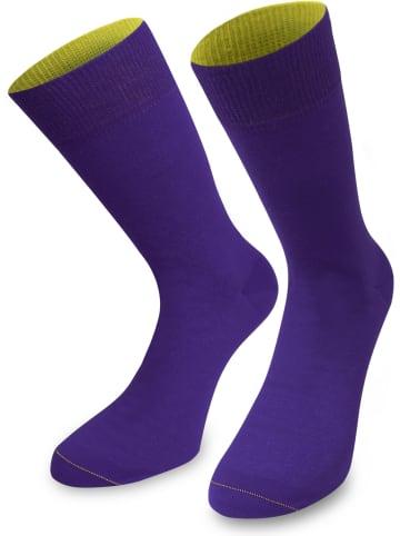 Normani 1 Paar Socken Bi-Color in Lila/Limette
