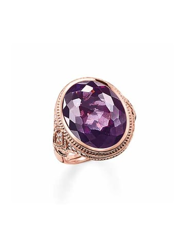 "Thomas Sabo Ring ""TR2032-416-13"" in gold und lila"