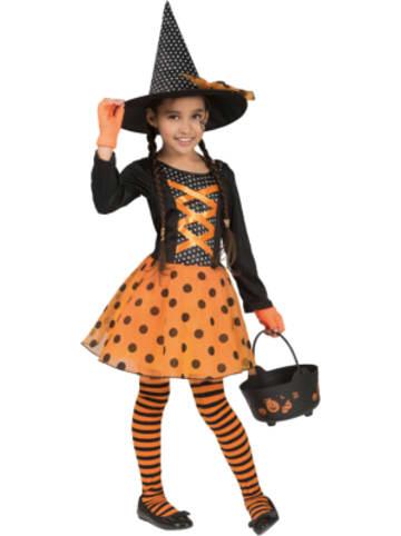 Funny Fashion Kostüm Hexe Hokus Polka, 2-tlg.