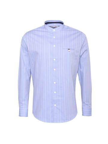 Gweih&Silk Trachtenhemd in Blau
