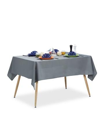 Relaxdays Tischdecke (L)180 x (B)140 cm in Grau