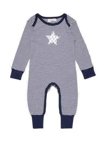 "Sense Organics Organic Baby Strampler ""Wayan"" in Navy-Weiß"