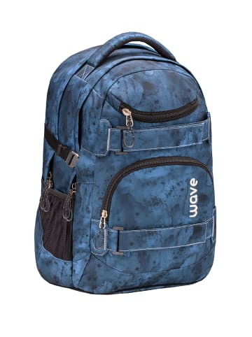 "Wave Rucksack ""Infinity Gloomy"" in blau, H 43 cm B 31 cm T 22 cm"