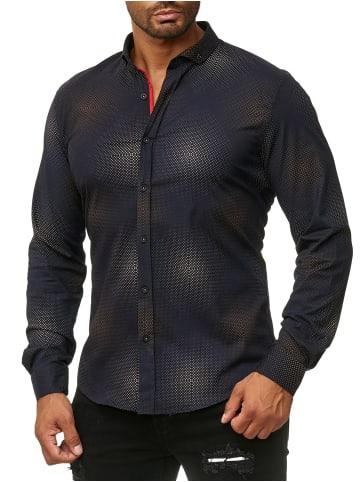 Arizona-Shopping Vintage Design Freizeit Hemd in Schwarz