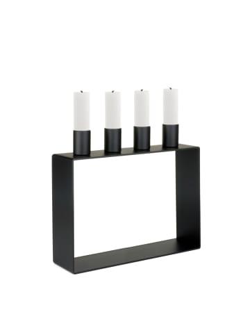 Novoform  Kerzenständer FRAME 4 in schwarz