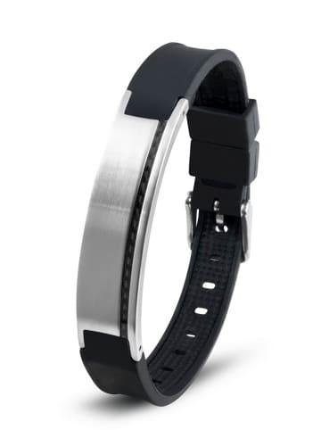 "Lunavit Armband ""Carbo Stripe"" in Schwarz (L) 15,0 cm -21,0 cm"