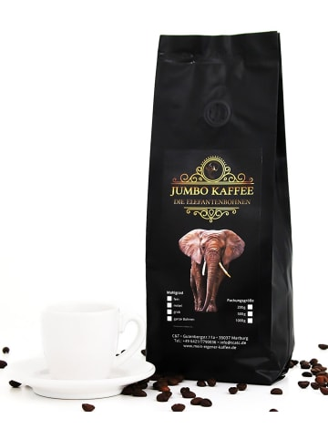"C&T Jumbo Kaffee ""Elefantenkaffee Maragogype"" - 500g Ganze Bohnen"