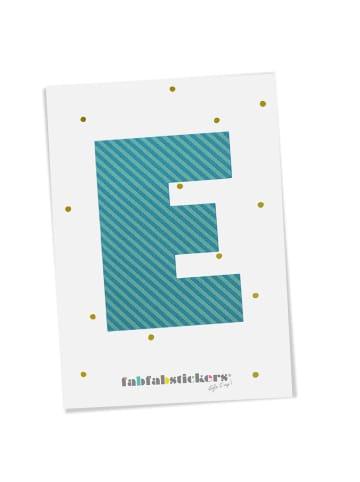 """Fabfabstickers Buchstabe """"E"""" aus Stoff in Green-Mix zum Aufbügeln"""