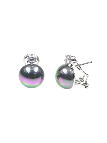 Perlas Orquidea  Perlenohrringe Helmi Black Pearl Earrings in schwarz